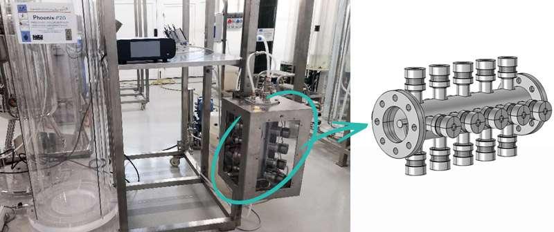 Reattore tubolare di miscelazione
